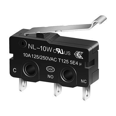NL-10W R -shape miniature snap action switch