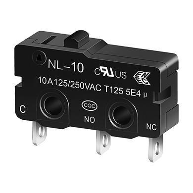 NL-10 push button miniature snap action switch